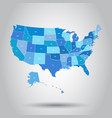 usa map icon business cartography concept united vector image