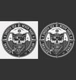 vintage monochrome marine logo vector image