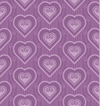 violet pattern with heart in art deco style vector image vector image