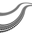 waves tire tracks vector image vector image
