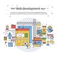 Web Development Line Composition vector image vector image