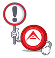with sign ark coin character cartoon vector image vector image