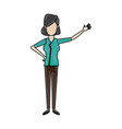 young woman standing character person casual vector image vector image