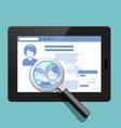 your social public profile is under surveillance vector image vector image