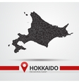 Hokkaido map vector image