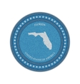 Label with map of florida Denim style vector image
