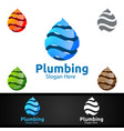 3d plumbing logo with water and fix home concept