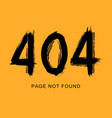 404 error page not found in grunge style vector image vector image