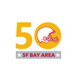 50 Pro Football Championship SF Bay Area vector image