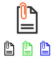 attach document flat icon vector image vector image