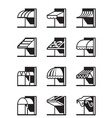 Awnings and canopies of buildings vector image