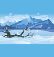 background landscape with winter forest vector image vector image