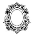 baroque mirror round frame french luxury vector image vector image