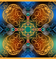 baroque seamless pattern ornamental vector image vector image