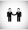 business partners on white background vector image vector image