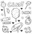 candy various sketch doodle style vector image vector image
