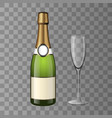 Champagne and a glass transparency background