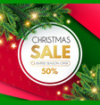 christmas sale banner holiday background with fit vector image vector image