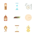 Chronometer icons set cartoon style vector image vector image