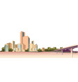 city landscape on a white background vector image vector image