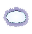 cloud shaped sign vector image vector image