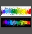 color paint splashes banner set vector image