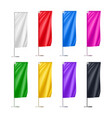 colorful beach flags set isolated on white vector image