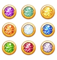 colorful golden amulets with diamonds vector image vector image