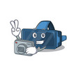 cool photographer vr virtual reality character vector image vector image