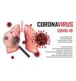 coronavirus 2019-ncov outbreak banner vector image