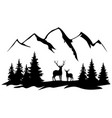 deer and mountains vector image