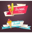 delicious set glittering and sparkling banners vector image vector image
