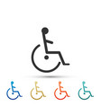 disabled handicap icon on white background vector image vector image