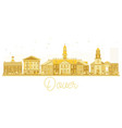 dover usa city skyline golden silhouette vector image vector image