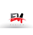 ey e y brush logo letters with red and black vector image vector image