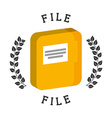 files icon vector image vector image
