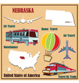 Flat map of Nebraska vector image vector image