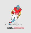 football player runs away with ball vector image
