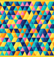 geometric seamless pattern with bright colorful vector image vector image