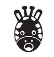 giraffe face emotion icon sign design vector image