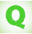 grass letter Q vector image