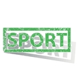 Green outlined SPORT stamp vector image vector image