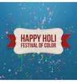 Happy Holi Festival of Color Banner with Ribbon vector image