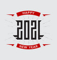 happy new year 2021 - poster with stylized vector image vector image