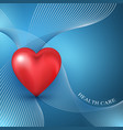heart shape on the abstract colorful background vector image vector image