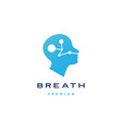 human head breath logo icon vector image vector image