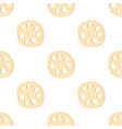 lotus root slices in seamless pattern vector image vector image