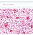Love garden horizontal torn paper pattern vector image vector image