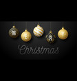 luxury christmas horizontal promo banner holiday vector image