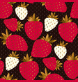 luxury elegant strawberry seamless pattern vector image vector image